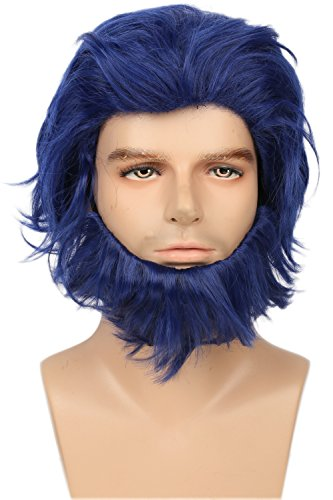 X Cosplay Men Henry Beast Wig Beard Set Movie Cosplay Costume Accessories (The Beast X Men Costume)