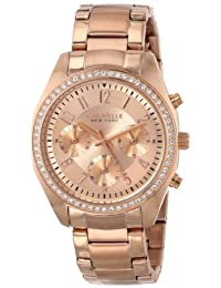Bulova Caravelle New York Women's 44L117 Analog Display Japanese Quartz Rose Gold Watch