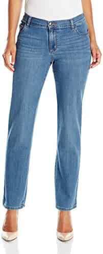 0d2fbed2195 LEE Women s Petite Relaxed Fit Straight Leg Jean