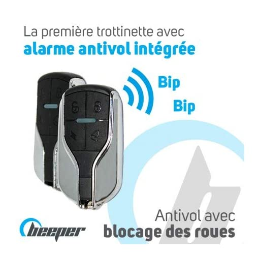 BEEPER Max Trottinette électrique avec Alarme 10 Pouces 500W 48V