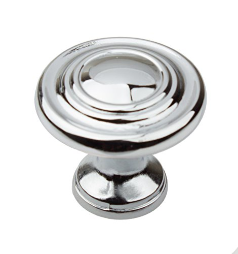 GlideRite Hardware 5415-PC-10 1.25 inch Diameter Classic Round Ring Polished Chrome Cabinet Knobs 10 Pack