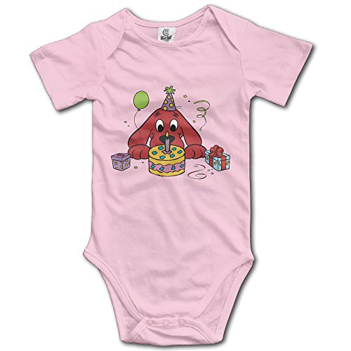 - Baby Boys Girls Short Sleeve Clifford The Big Red Dog Funny Bobysuit Onesie 12 Months Pink
