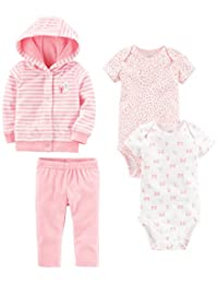 Simple Joys by Carter's Girls' 4-Piece Terry Cardigan Set