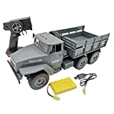Big-time 1/16 Remote Control Car, WPL Soviet Ural Military Remote Control Truck, Off Road RC Car, 6WD Simulation RC Crawler Truck Military Body Riding Kids Toys