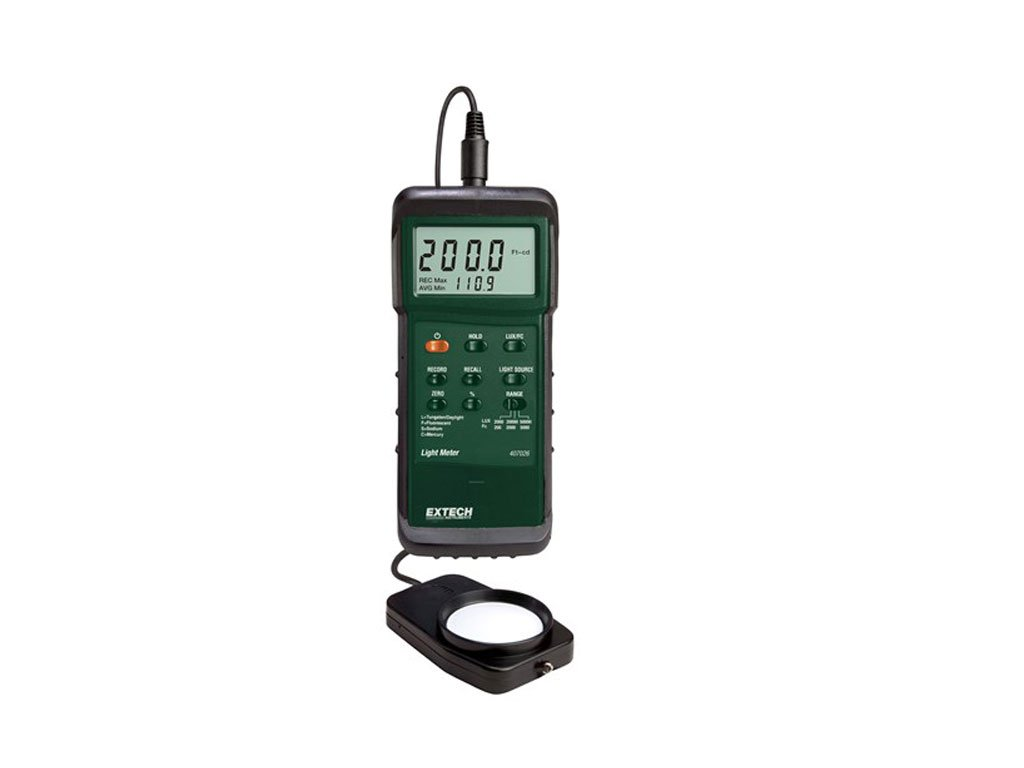 Extech 407026-NIST Heavy Duty Light Meter with PC Interface and NIST