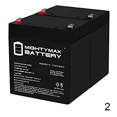 Mighty Max Battery 12V 5AH SLA Battery Replacement for Ezip EZ2 Nano Scooter - 2 Pack Brand Product: Toys & Games