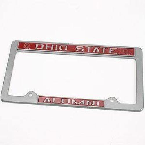 (Ohio State Buckeyes Alumni Metal License Plate Frame - Pewter Look Design)