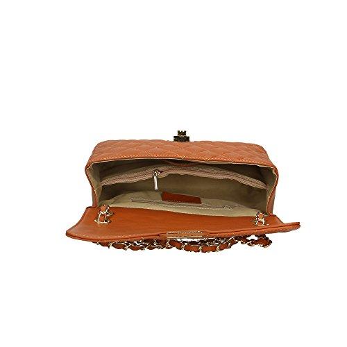 Sac Bronzage véritable 27x16x8 femme Italy Made cuir bandoulière à en in Aren Cm UwASS