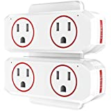 Smart Plug, HoMii Wifi Outlet Dual Socket Work with Alexa, Google Home & IFTTT, Remote Control and Timer Function, No Hub Required, ETL Listed (2pack)