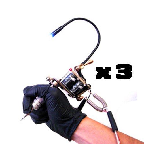 New 3 Adjustable Tattoo Machine Mounted LED Gun Lights