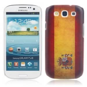 Unique Colorful Plastic Protective Case with Spain Flag Pattern for Samsung S3 i9300