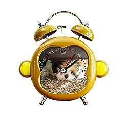 GIRLSIGHT1 Children's Room Monkey Style Silent Alarm Clock Twin Bell Mute Alarm Clock Quartz Analog Bedside and Desk Clock with Nightlight- 034.Bella, Our 12 Week Old Shih Tzu Puppy