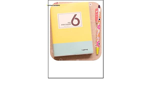 Amazon.com : Korean Cute School Study Planner Agenda ...