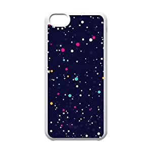 dot print night sky abstract pattern iPhone 5C Case White