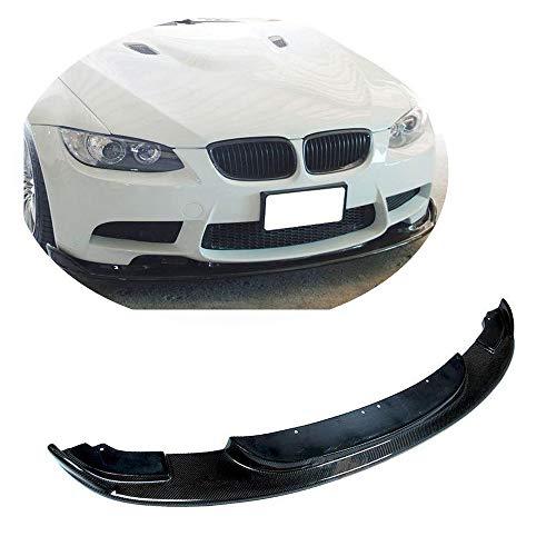 MCARCAR KIT Fits BMW 3 Series M3 E90 E92 E93 2009-2013 Pure Carbon Fiber Front Bumper Lip Chin Lip Flat Splitter Plate Under Panel HAMANN Look ()
