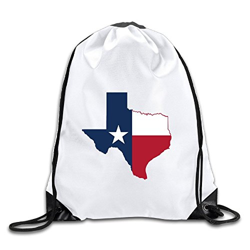 (Flag Map Of Texas Drawstring Backpack Bag Gym Sack)