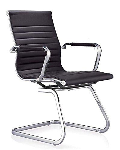 SHAIK ha0193 Chaise de bureau simili cuir noir 79 x 56 x 51 cm