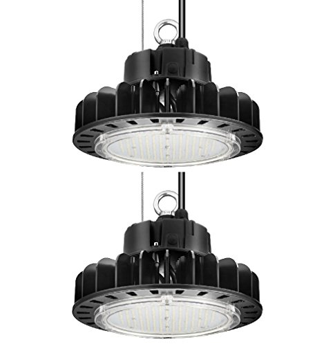 ETL Certified LED High Bay UFO Light, Replacement for 400W HID/Hps, 5000K Daylight White, LED Warehouse Lighting with 45 inch Cord (100 Watts 2 Pack) (Lighting Warehouse)