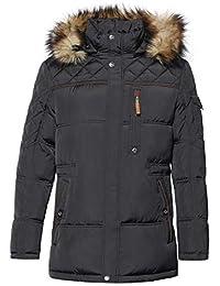 ICEbear Men's Down Jacket Waterproof Winter Parka Short Down Coat with Fur Hooded