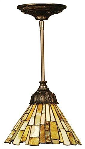 Meyda Tiffany 103045 Jadestone Delta Mini Pendant Light Fixture, 8