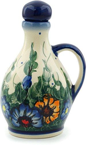 Polish Pottery Bottle 5 oz Spring Bouquet, UNIKAT ()