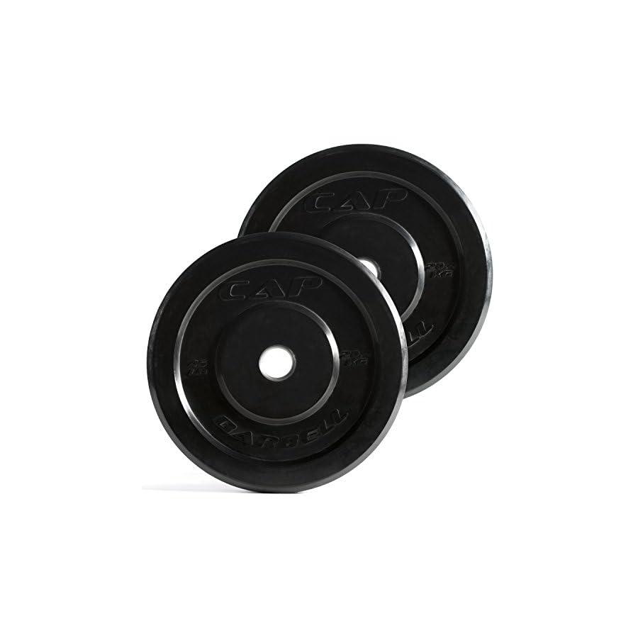 CAP Barbell Premium Bumper Plates, Black, Pair