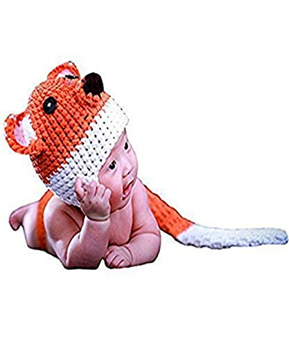 UOMNY Baby Newborn Photography Props Fox Costume Handmade Crochet Knitted Unisex Baby Outfit Photo Prop Baby Photography]()