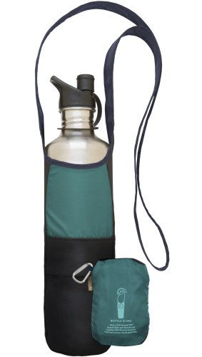 ChicoBag Bottle Sling Bag with Pouch, Glacier, 4.5 x 10-Inch Bag/4.5 x 6-Inch Pouch, Outdoor Stuffs