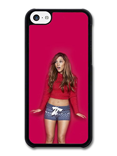 Ariana Grande With Red Background Popstar Singer coque pour iPhone 5C
