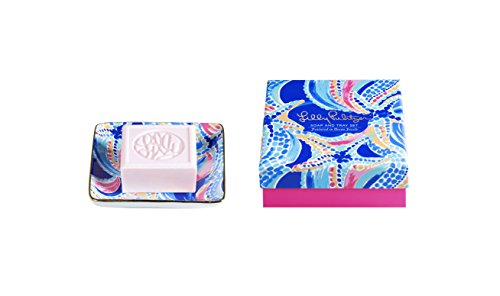 Lilly Pulitzer Soap & Tray Set-Ocean Jewels
