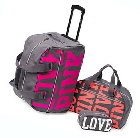 Amazon.com : Victoria's Secret * Pink * Three Piece Travel Luggage ...
