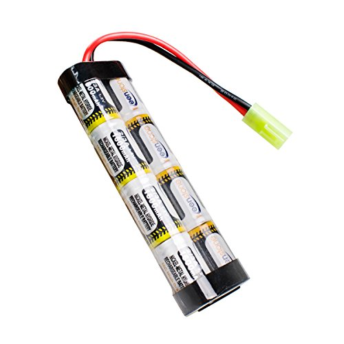 keenstone Upgrade 9.6V NiMH 1600mAh Nunchuck Stick Mini Battery Pack w/Mini Tamiya Connector High Discharge Platform for Most Airsoft Mini AK series, upgraded and/or modified AEG's
