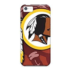 Shockproof Cell-phone Hard Covers For Iphone 5c With Unique Design Lifelike Washington Redskins Pattern CristinaKlengenberg