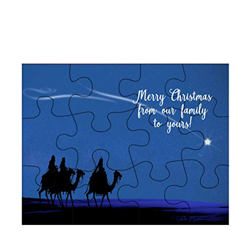 (Holiday Jigsaw Puzzle Three Wisemen On Camels and Shooting Star)