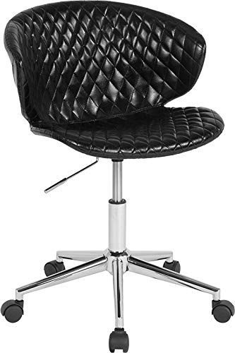 - StarSun Depot Cambridge Home and Office Upholstered Mid-Back Chair in Black Vinyl 24.5