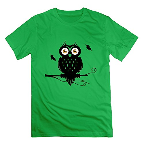 Men's New Design Halloween Costume Ideas Owls Tshirt Size XL Color ForestGreen]()