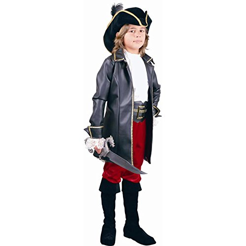 Child Black Captain Morgan Costume w/Boot Covers Size: