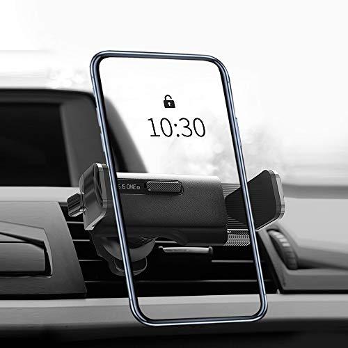 🥇 IYOYI Soporte Móvil Coche Universal 360°Rotación Soporte Teléfono Coche para Rejillas del Aire Ventilación Soporte Smartphone Coche para iPhone Hwawei Samsung LG GPS