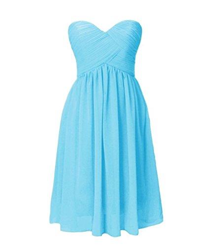 Short Party Dress Chiffon D S Sweetheart Women's Bridesmaid H Pool Gowns xOT7nPgT