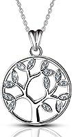 AEONSLOVE L'arbre de Vie Argent Sterling 925 Collier Pendentif Arbre Famille Femmes Bijoux Cadeau Chaîne 46 cm