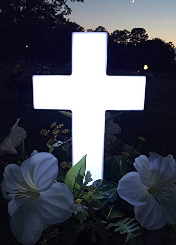 - Solar Powered Cemetery/Grave Decoration - Lighted Memorial Roadside Marker ()