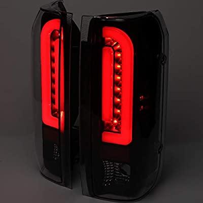 DNA Motoring TL-F15094-LED-RD3D-BK-CL Pair Red 3D LED Bar Tube Tail Light Rear Brake Lamps Set Replacement: Automotive