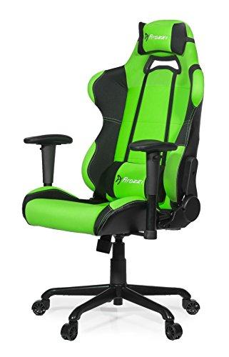 Arozzi Torretta Series Gaming Racing Style Swivel Chair, Green