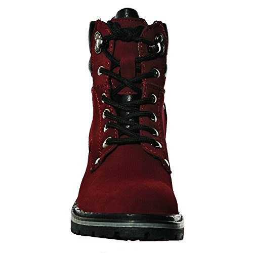 Boots up Burgundynew New Lace Ankle zPvxw76
