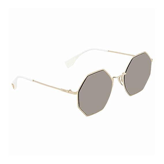 c312fe5ec7 Fendi EYELINE FF 0292 S GOLD GREY GOLD women Sunglasses  Amazon.co ...