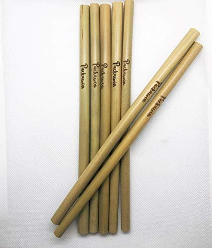 Packawin Lot de 10 pailles en bambou nettoyant Produit /écologique r/éutilisable et biod/égradable