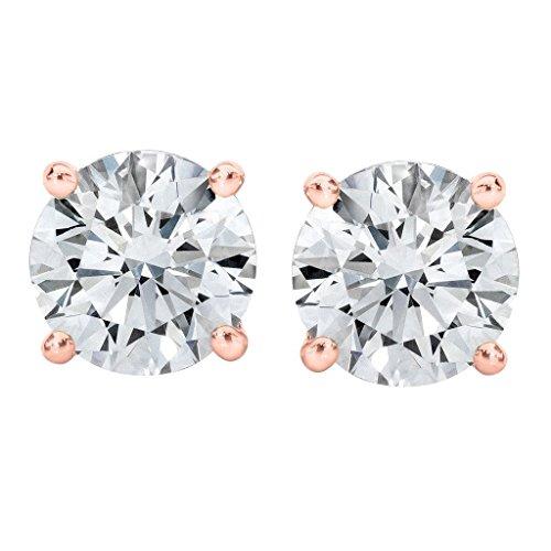 PARIKHS IGI Certified 0.10ct up Bright White Round Diamond stud ScrewBack Color-FGH Clarity-I2