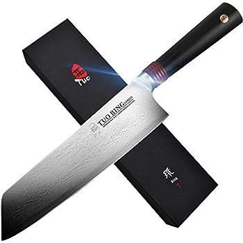 Amazon.com: TUO Cuchillo de cocina de acero inoxidable y ...