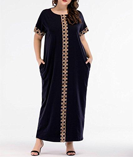 Dubai M zhxinashu Arabe Abaya Manches Courtes Femmes Pocket Robe Surdimensionn avec 4XL Musulmanes Caftan Maxi zqwRzHO
