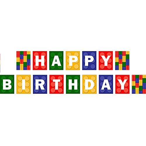 Brick Party Jointed Banners, Brick Party Party Supplies, Brick Party Birthday Banner, Party Decorations, Hanging Room Decorations -
